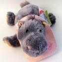 Peluche hippopotame brodé
